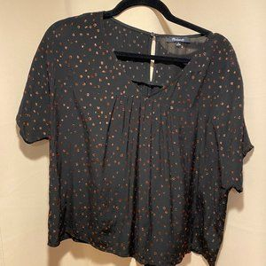 Madewell black and gold blouse